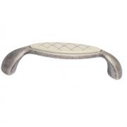 Ручка-скоба 96мм, отделка серебро античное + вставка 9.1331.0096.17N-108