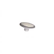 Ручка-кнопка, отделка серебро античное 10.818.B17N