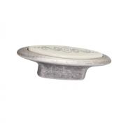 Ручка-кнопка 32мм, отделка серебро античное + вставка 10.808.B17N-107