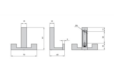 2325/ZN1 Крючок, отделка хром глянец