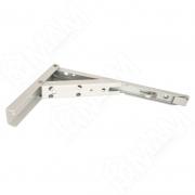 BRK240/WHITE Кронштейн складной 136х240 мм для деревянных полок, белый (2 шт.)