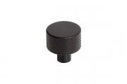 2464-24PB12 Ручка-кнопка, отделка черный матовый