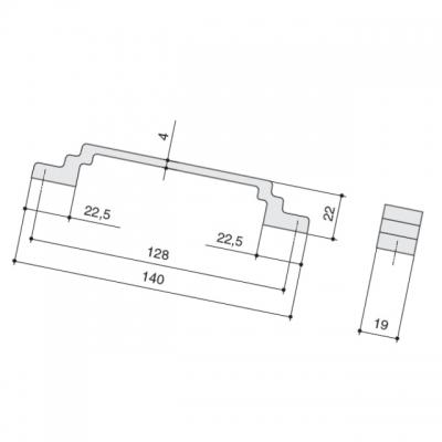 Ручка-скоба 128мм, отделка айрон 8.1145.0128.0850