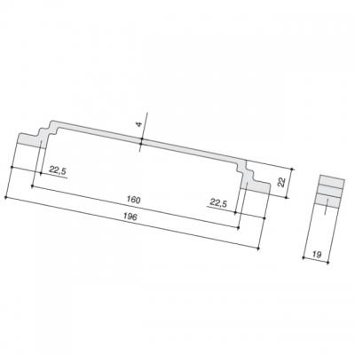 Ручка-скоба 160мм, отделка айрон 8.1145.0160.0850