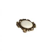 """Ручка-кнопка, отделка бронза античная """"Флоренция"""" + керамика P41Y.01.G4.MD1G"""