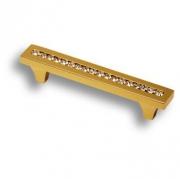 2571-003-96 Ручка скоба, латунь с кристаллами Swarovski, глянцевое золото 96 мм