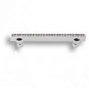 2575-005-480 Ручка скоба, латунь с кристаллами Swarovski, глянцевый хром 480 мм