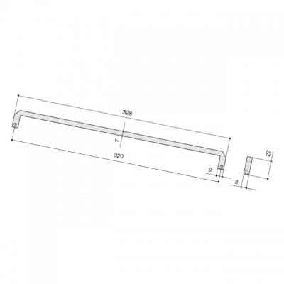 Ручка-скоба 320мм, отделка железо античное черное 8.1146.0320.0850