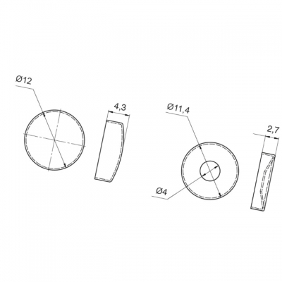 Декоративная крышечка d.12мм (с базой для шурупа), отделка латунь 01.0066