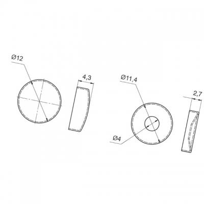 Декоративная крышечка d.12мм (с базой для шурупа), отделка латунь 01.0066 заглушка