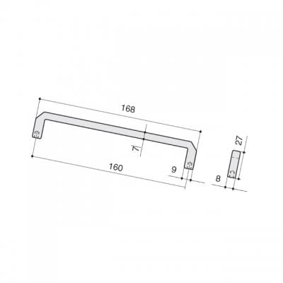 Ручка-скоба 160мм, отделка железо античное черное 8.1146.0160.0850