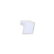 Ручка-кнопка 32мм, отделка транспарент + белый a603.TR/BI24