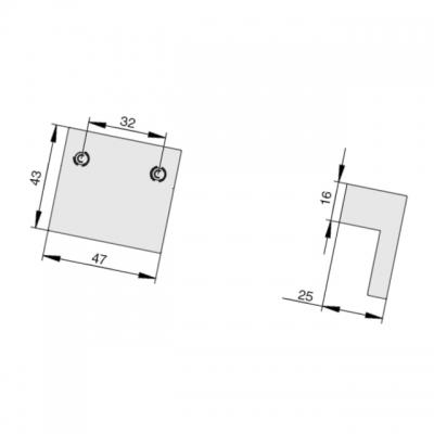 Ручка-скоба 160мм, отделка транспарент + черный a306.TR/NE24