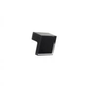 Ручка-кнопка 32мм, отделка транспарент + черный a603.TR/NE24