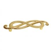 Ручка-скоба 96мм (левая), отделка золото императорское EA036Z096S0.70