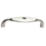 Ручка-скоба 96мм, отделка серебро старое + вставка 1898-106ZN29A4