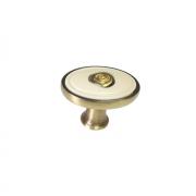 Ручка-кнопка, отделка бронза + вставка 1897-32ZN31A78
