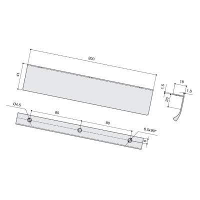 Ручка-скоба L.200мм, отделка бронза темная 419720200-94