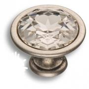 27.35.16 SWA Ручка кнопка, старое серебро
