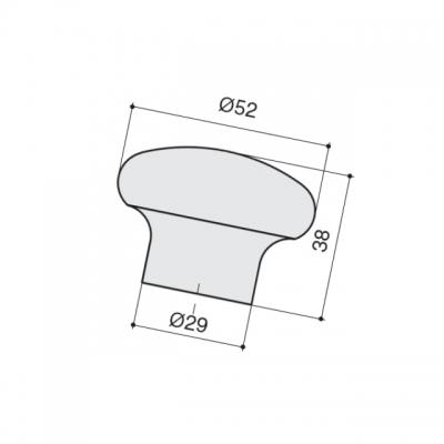 Ручка-кнопка, отделка магнолия a419.VE35MAG
