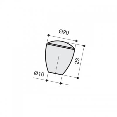 Ручка-кнопка, отделка хром глянец a011.CL24