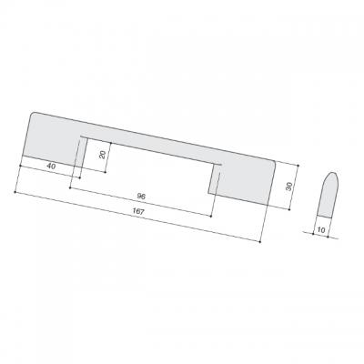 Ручка-скоба 128/96мм, отделка хром глянец a323.CL24
