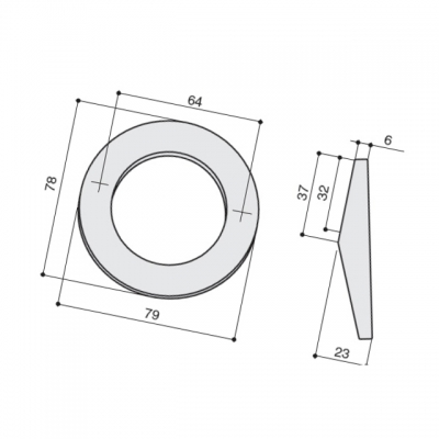 Ручка-кнопка, 64мм, отделка хром глянец a318.CL25