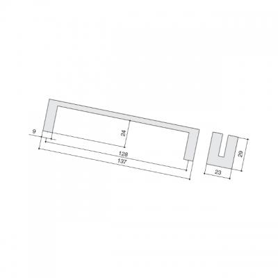 Ручка-скоба 128мм, отделка хром глянец a315.CL24