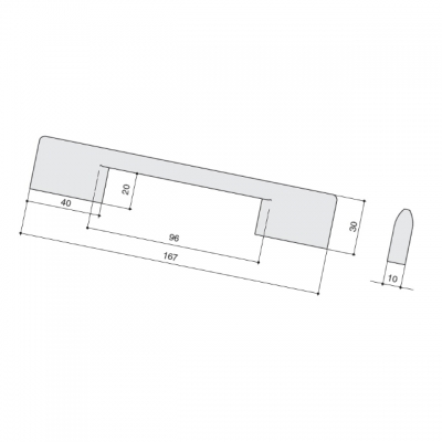 Ручка-скоба 128/96мм, отделка античное железо a323.VFEAN24