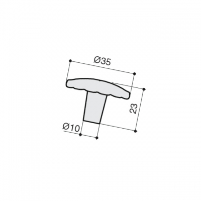 Ручка-кнопка, отделка медь Сиена WPO.742Y.035.M00V2