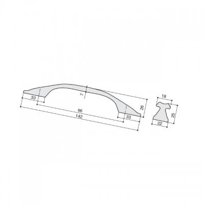 Ручка-скоба 96мм, отделка медь Сиена WMN.742X.096.M00V2