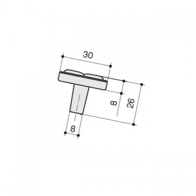 """Ручка-кнопка, отделка бронза """"орваль"""" + керамика JL6108.K.BF"""