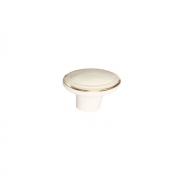 Ручка-кнопка, отделка слоновая кость + золото M302.K.white+gold
