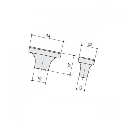Ручка-кнопка, отделка кофе M274.K.COF