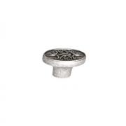Ручка-кнопка, отделка серебро старое M274.K.RAS