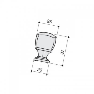 Ручка-кнопка, отделка бронза матовая M278.K.BAB