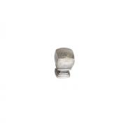 Ручка-кнопка, отделка серебро старое M278.K.RAS