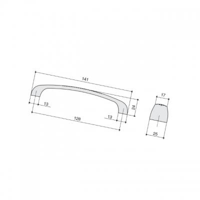 Ручка-скоба 128мм, отделка хром глянец M1011.128.CP
