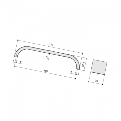 Ручка-скоба 160мм, отделка железо античное 217.884-160-6545