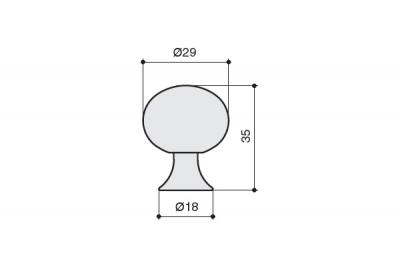 S536865028-66/wc Ручка-кнопка, отделка сталь шлифованная + мрамор белый