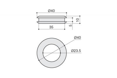 a078.CCL Ручка врезная, отделка хром глянец