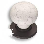 """3005-70-000-08 Ручка кнопка керамика с серой """"паутинкой"""", чёрный"""