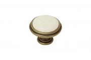 """P77.Y01.M3.MD1G Ручка-кнопка, отделка бронза античная """"Флоренция"""" + керамика"""