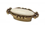 """P40.X01.M3.MD1G Ручка-кнопка, отделка бронза античная """"Флоренция"""" + керамика"""