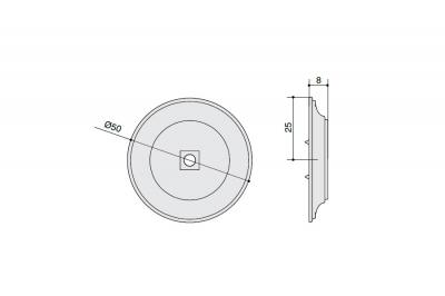 SY3043 0050 PN Ответная часть для ручки 3190, отделка никель полированный