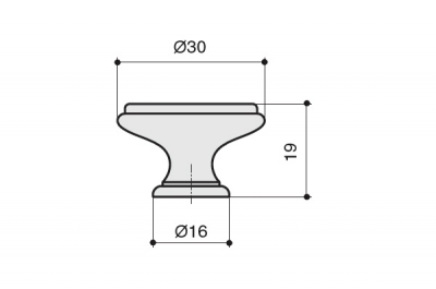 """P77.Y01.00.MR8G Ручка-кнопка, отделка золото матовое """"Милан"""" + керамика"""