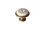 """P77.Y01.Q2.MD1G Ручка-кнопка, отделка бронза античная """"Флоренция"""" + керамика"""