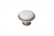 P77.Y00.00.ME8G Ручка-кнопка, отделка старое серебро с блеском + керамика P88.Y00.00.ME8G