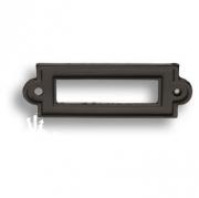 3089-14 Накладка декоративная для информации, цвет черный