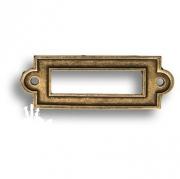 3089-22 Накладка декоративная для информации, старая бронза